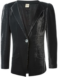 Krizia Vintage Shiny Evening Jacket Black