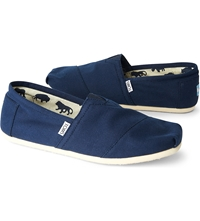 Toms Classic Canvas Espadrilles Navy Blue Canvas