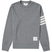 Thom Browne Cashmere Crew Knit Grey