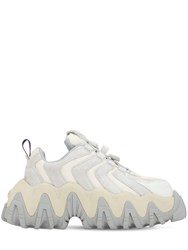 Eytys Halo Platform Suede Sneakers Off White