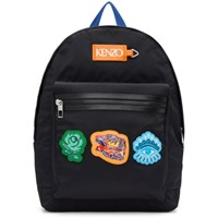Kenzo Black Icon Patch Backpack