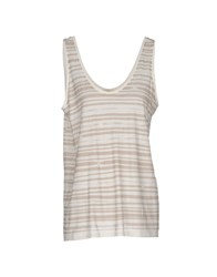 Gold Case Sogno Topwear Vests Women Ivory