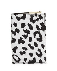 Neiman Marcus Leopard Print Passport Case Animal Print