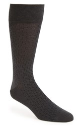 John W. Nordstrom Interlock Corner Socks Charcoal Heather