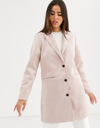 B.Young Single Breasted Coat Pink