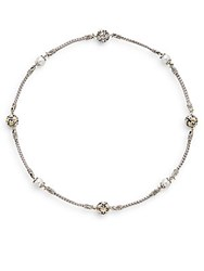 John Hardy Jaisalmer 6.5 7Mm Freshwater Pearl 18K Yellow Gold And Sterling Silver Necklace Silver Gold