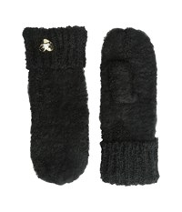Betsey Johnson Fuzzy Logic Mitten Black Extreme Cold Weather Gloves