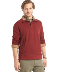 G.H. Bass And Co. Sueded Sherpa Lined Mock Neck Fleece Sundried Tomato