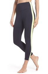 Splits59 Rose High Waist Capri Leggings Midnight Neon Citrus