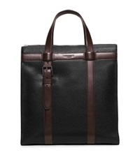 Michael Kors Bryant Leather Tote Black Brown
