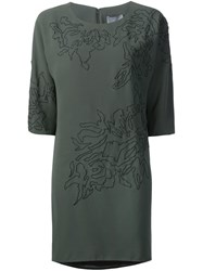 Maiyet Embroidered T Shirt Dress Green