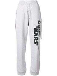 Moschino Couture Wars Track Pants Grey
