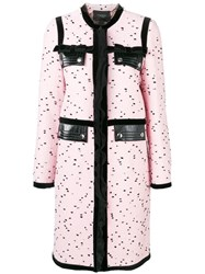 Giambattista Valli Dotted Single Breasted Coat Pink