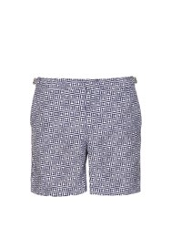 Orlebar Brown Bulldog Geometric Print Swim Shorts Navy Multi