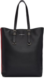 Alexander Mcqueen Black Leather Tote Bag