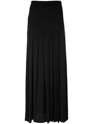Piazza Sempione Pleated Maxi Skirt Women Silk Acetate 38 Black