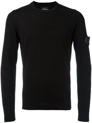 Stone Island Shadow Project Crew Neck Jumper Black