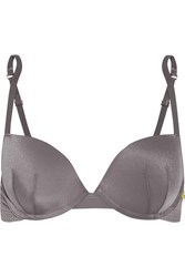 Elle Macpherson Body The Body Perforated Stretch Jersey Underwired Bra Gray