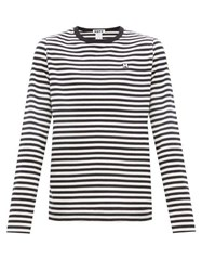 Hope Final Long Sleeved Striped Cotton T Shirt Black White