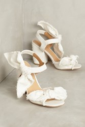 Anthropologie Bill Blass Carmen Block Heels White