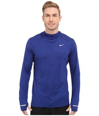 Nike Dri Fit Element Hoodie Deep Royal Blue Reflective Silver Men's Sweatshirt