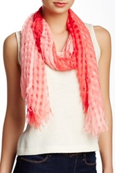 David And Young Window Pane Ombre Scarf Pink
