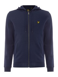 Lyle And Scott Zip Through Hooded Sweatshirt Navy