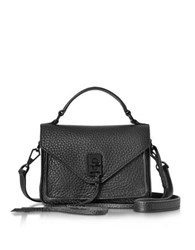Rebecca Minkoff Black Leather Mini Darren Messenger Bag