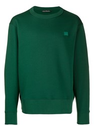 Acne Studios Fairview Face Sweatshirt Green