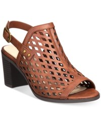 Easy Street Shoes Erin Slingback Sandals Women's Brown