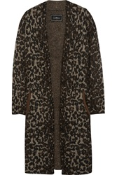 By Malene Birger Cameliu Leopard Intarsia Knitted Cardigan