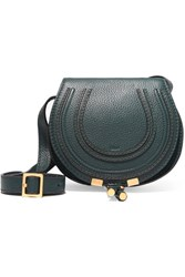 Chloe Marcie Mini Textured Leather Shoulder Bag Forest Green