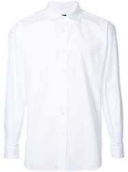H Beauty And Youth Classic Button Up Shirt White