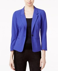 Kensie Three Quarter Sleeve Blazer Electric Purple