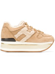 Hogan H Platform Sneakers Nude And Neutrals