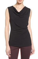 T Tahari Women's 'Sheila' Drape Neck Sleeveless Top