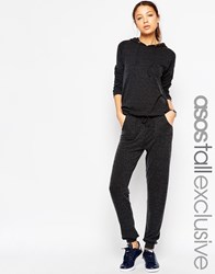 Asos Tall Lounge Co Ord Fluffy Jogger Grey