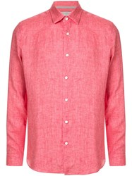 Gieves And Hawkes Long Sleeve Fitted Shirt Pink