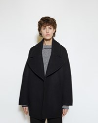 Marni Double Wool Cover Jacket Black