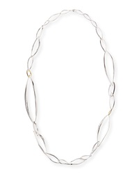 Alexis Bittar Fine Sterling Silver Marquise Link Necklace