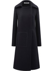 Paco Rabanne Long Coat Black