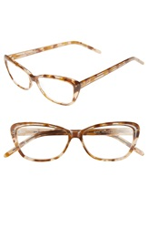 Corinne Mccormack 'Jenni' Cat Eye Reading Glasses Tan Marble