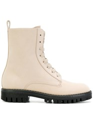 Philipp Plein Dary Boots Calf Leather Leather Rubber Nude Neutrals