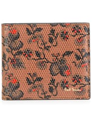 Paul Smith Floral Print Wallet Brown