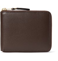 Comme Des Garcons Zip Around Leather Wallet Chocolate