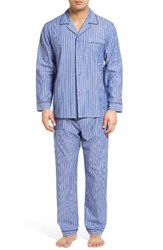 Majestic International Men's Big And Tall Cole Easy Care Pajamas Royal Stripe