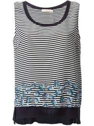 Tory Burch Stripped Tank Blue