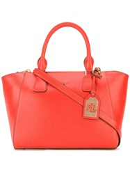 Lauren Ralph Lauren Trapeze Tote Women Leather One Size Red