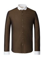 Gibson Men's Olive Penny Round Shirt Olive