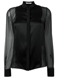 Givenchy Sheer Contrast Panel Shirt Black